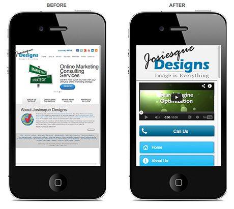 Mobile website design Austin