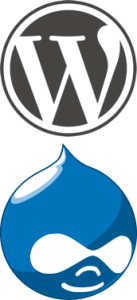 WordPress Drupal Logos