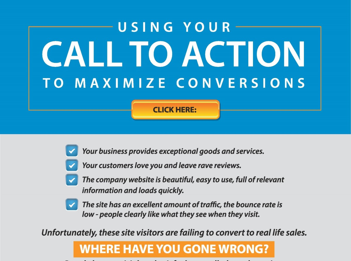 Click here to go to the company website - Using Call To Action To Maximize Conversions Infographic Josiesque Designs