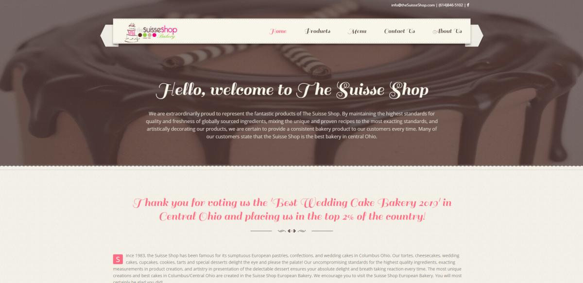 The Suisse Shop Bakery website.