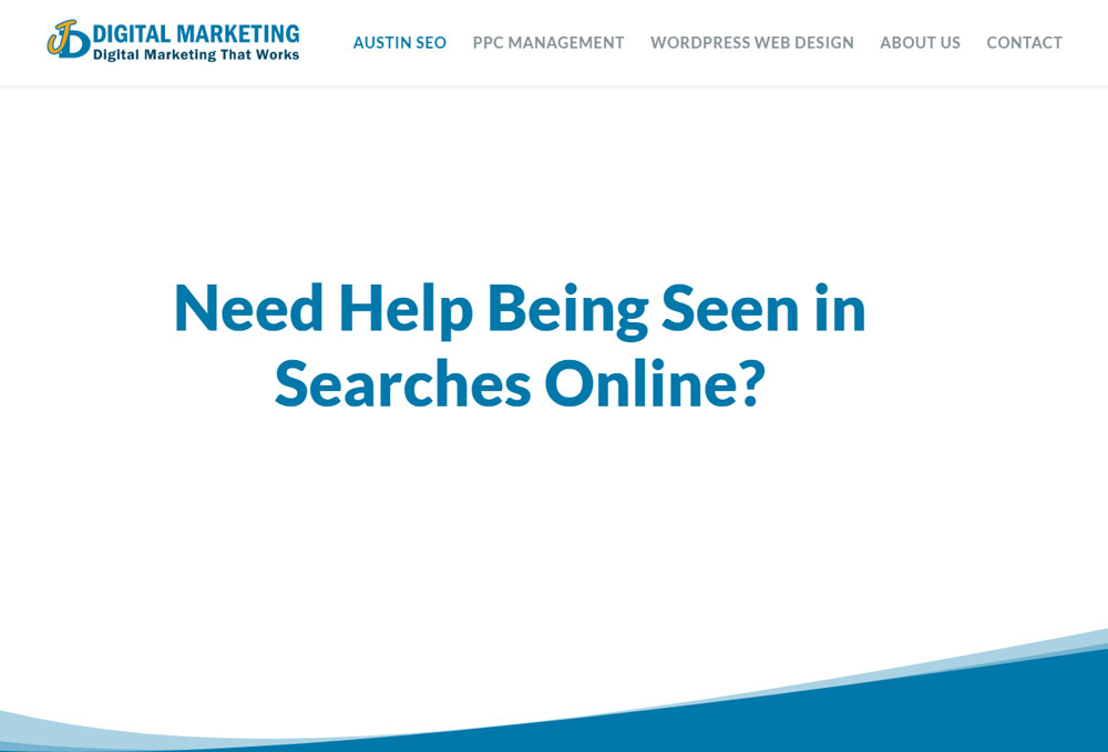 Screenshot of the JD Digital Marketing website.