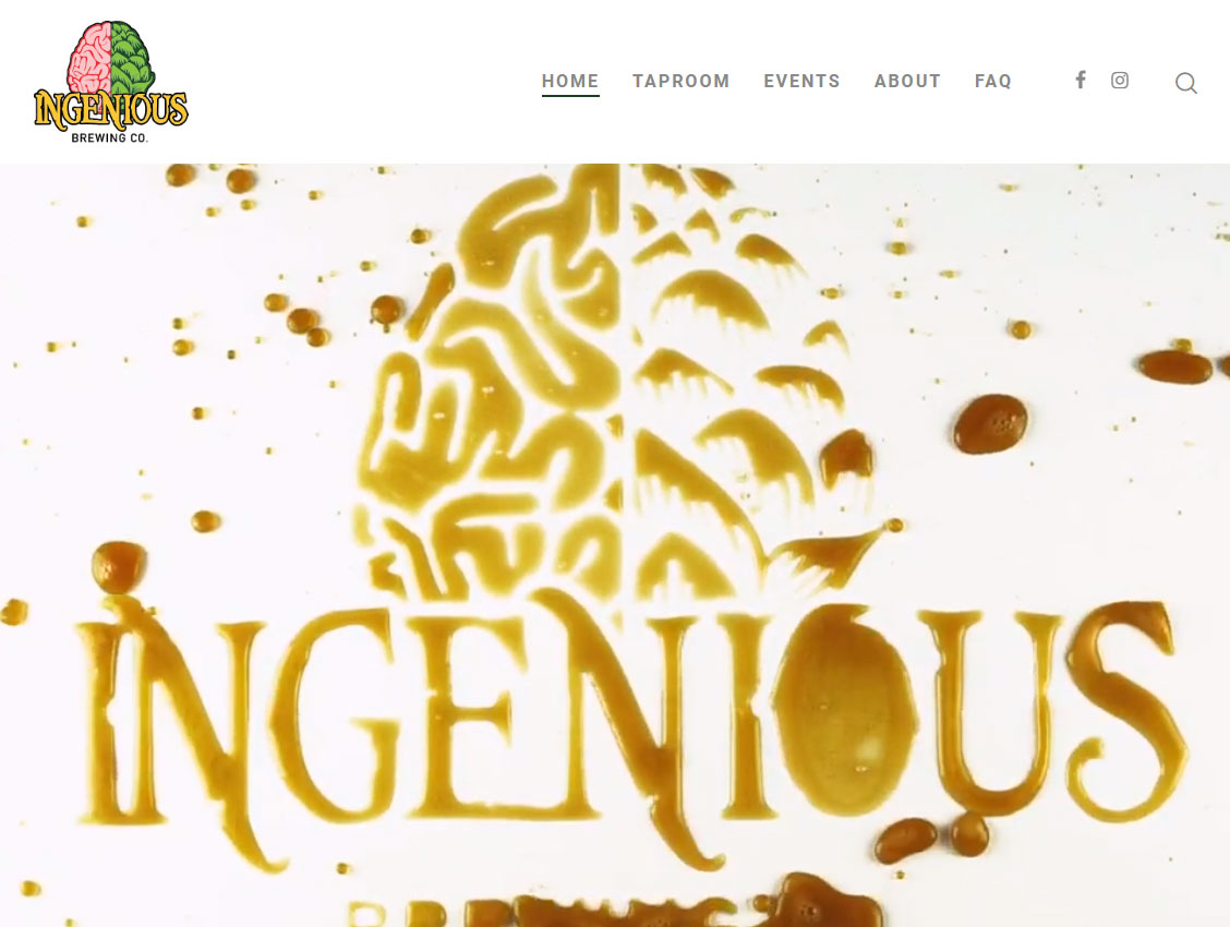 Ingenious brewing website screenshot