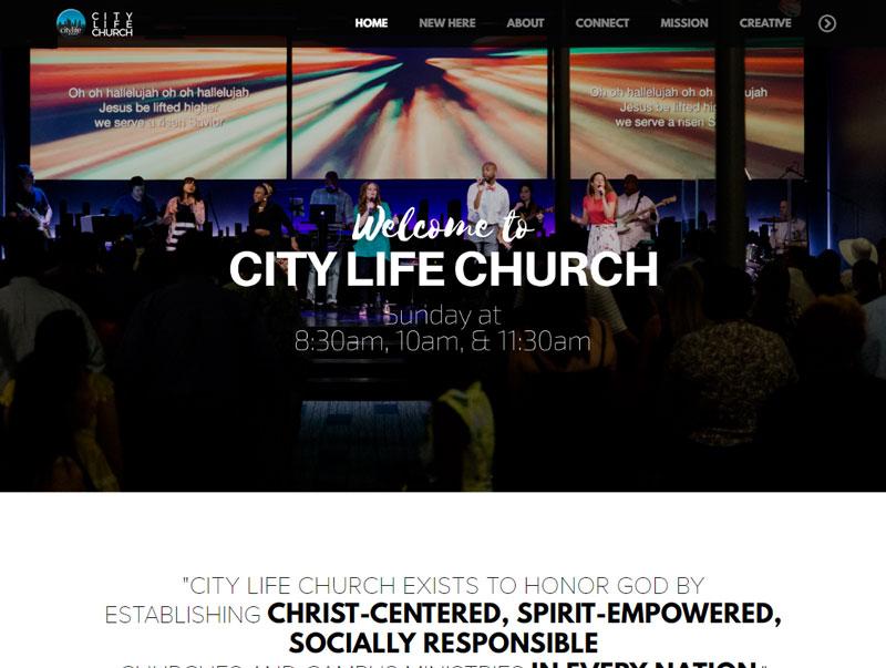 City Life Church website design screenshot