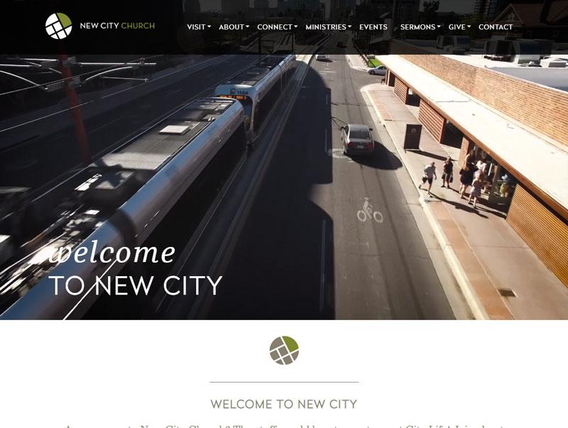 screenshot of the New City Church website design