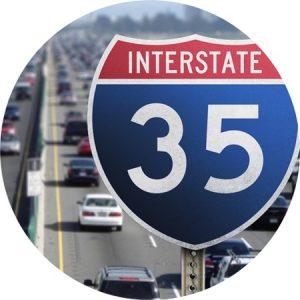 I35 traffic in Austin, Texas